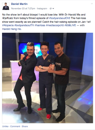 "Dr. Harold Ma was humbled to appear on Channel 5 Television ""Body and Soul"" 2015. Stay tuned!"